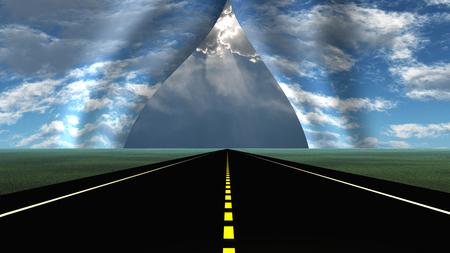 La route mène à une déchirure dans le tissu de la réalité