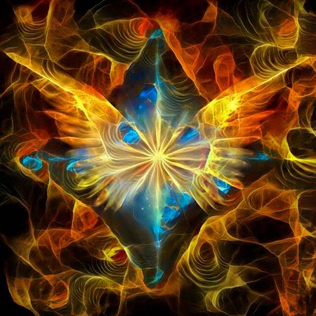 Étoile brillante avec des ailes d'ange