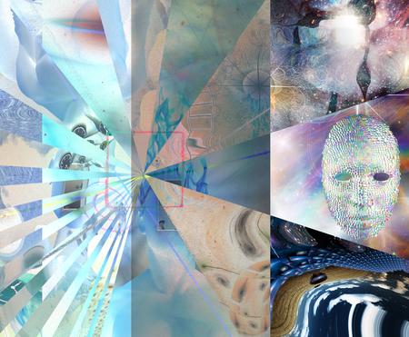 Symbolische abstrakte Kunst. Pfeil der Zeit Standard-Bild