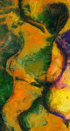 Colorful Hot Abstract Painting. 3D rendering Imagens