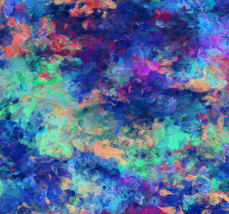 Colorful Abstract Painting. 3D rendering Imagens