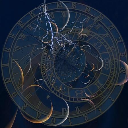 Surreal art. Zodiac time