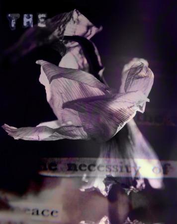 Contemporary art. Dark Flower