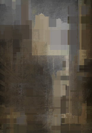 Muted Urban Abstract Background. 3D rendering
