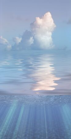 Clouds over water surface Stock Photo