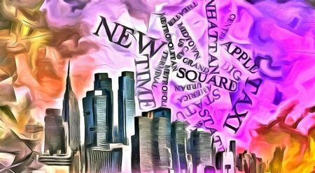 Modern art. New York, Manhattan