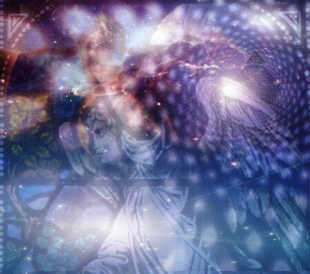 Engel und himmlische Komposition