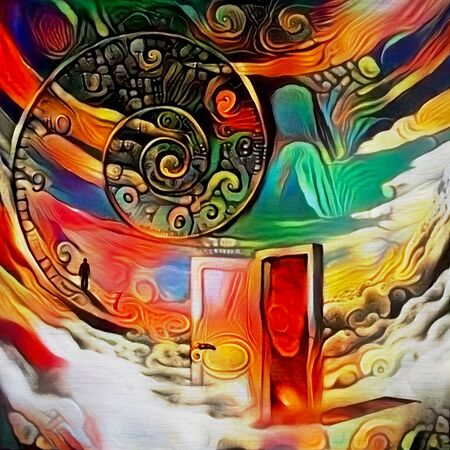 Abstract painting. The Door to Infinite Dreams