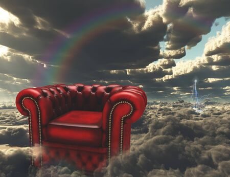 Armchair on a clouds