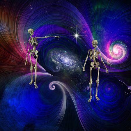 Skeletal Figures in Cosmos Imagens