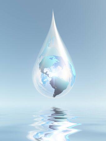 Water Drop. Planet Earth Фото со стока