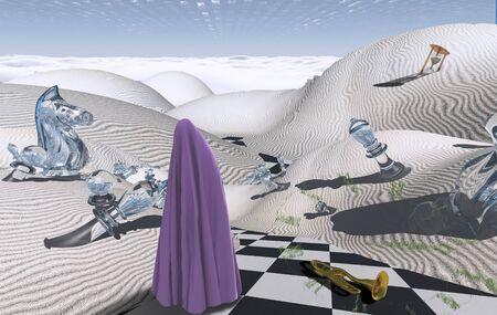 Desert of Dreams. Surreal composition