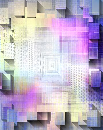 Square abstract with binary code Banco de Imagens