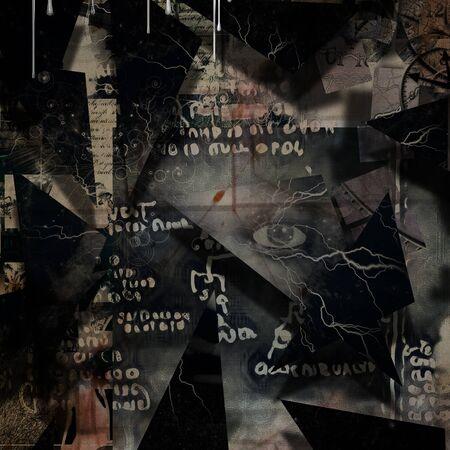 Dark art composition. Depressive thoughts Banque d'images