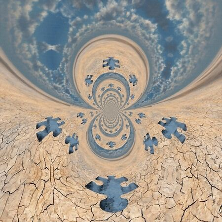 Abstract fractal. Puzzle in arid lands