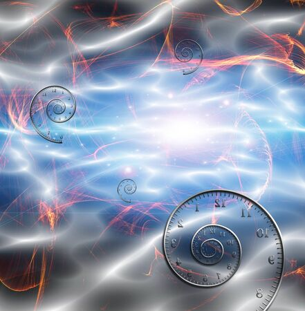 Time Space Fabric. 3D rendering 版權商用圖片