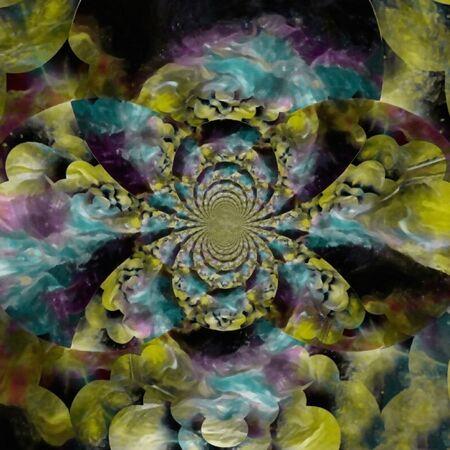Abstract circles. Fractal. Optical illusion