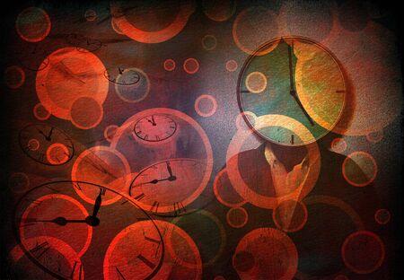 Time abstract. Moern digital art
