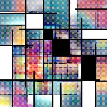 Colorful geometric background. Modern art 版權商用圖片