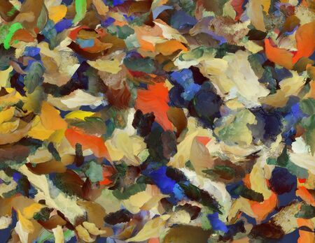 Colorful Abstract Painting. 3D rendering 写真素材