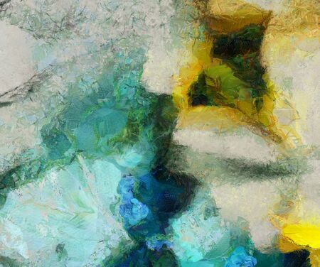Muted Abstract Painting. Oil on Canvas Foto de archivo - 129407170