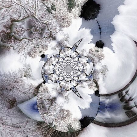 Digital abstract painting. Winter fractal