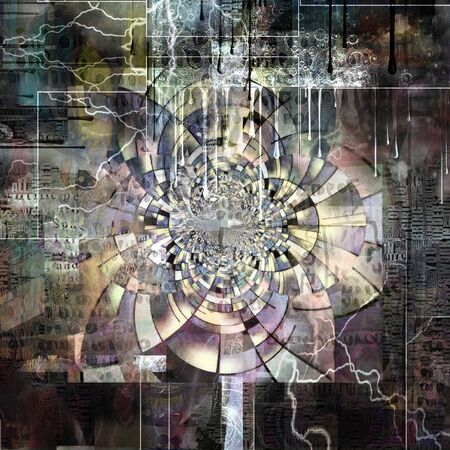 Abstract digital art. Infinite Dreams. Fractal with geometric pattern Imagens