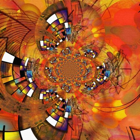 Geometric fractal in vivid colors