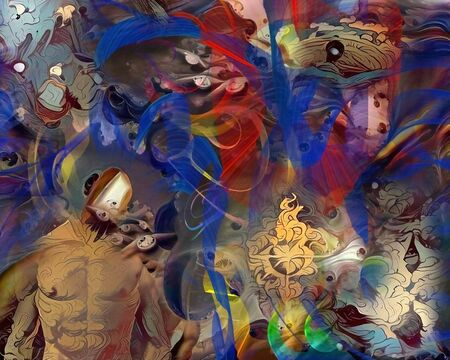 Allegory. Surreal abstract with human elements Banque d'images