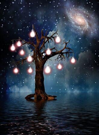 Tree of Thoughts. Modern digital art