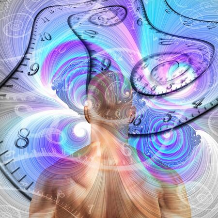 The sense of time. Man and time spirals
