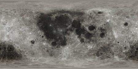 Highly detailed without blurriness Moon surface map