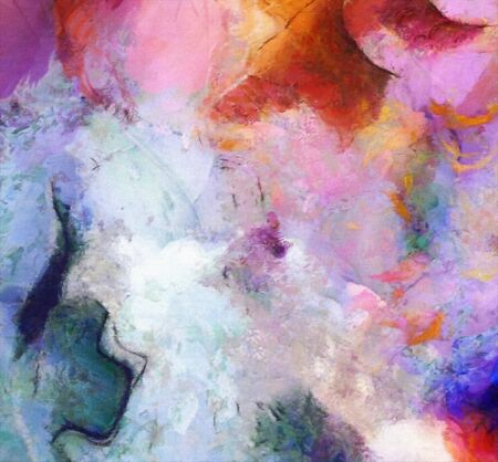 Colorful Abstract Painting. Oil on canvas 写真素材