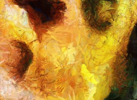 Colorful Abstract Painting. Brush strokes