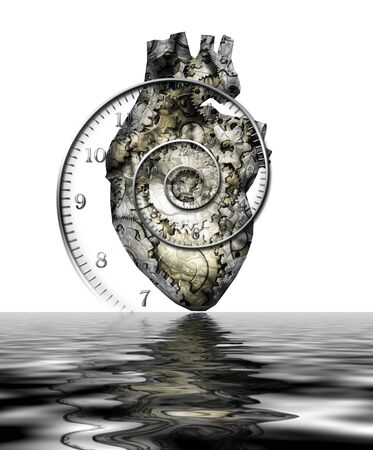 Human heart. Metal gears and time spirial