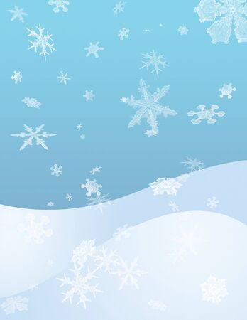 Snowflakes. Winter theme. Artwork for creative graphic design