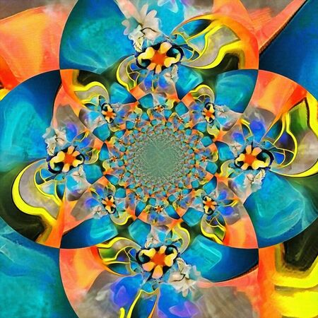Colorful illusion. Digital abstract painting. Fractal