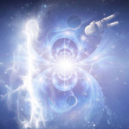 Espíritu o alma en el espacio infinito