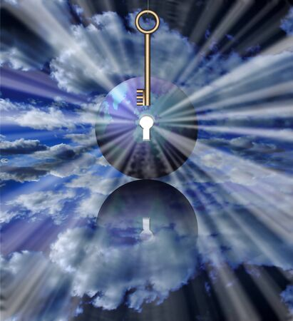 Key of World. Symbolic composition Banco de Imagens