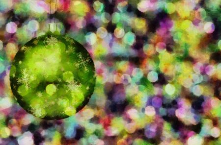 Christmas tree ornament. 3D rendering