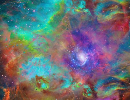 Galactic Space. Vivid colors of Universe
