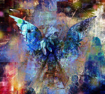 Touch of an Angel. Spiritual art Zdjęcie Seryjne