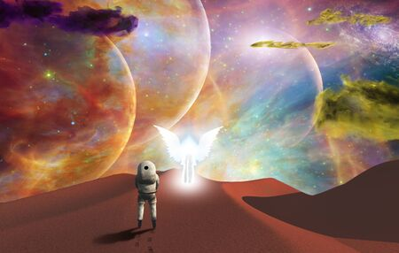 Meeting with the angel or Space journey