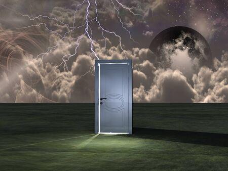 Door or portal to another world 版權商用圖片