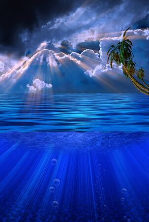 Dramatic Clouds and Tropical Waters