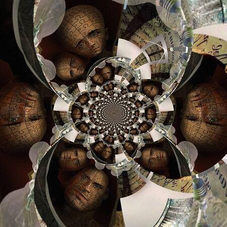 Maze Man Abstract fractal. 3D rendering