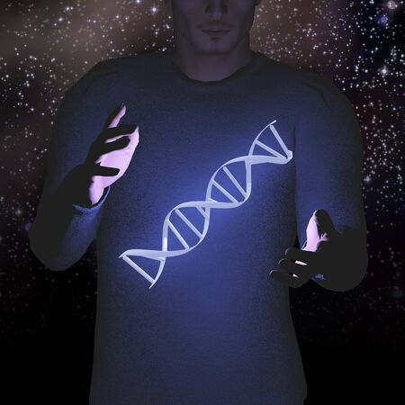 DNA and Stars in Human Hands