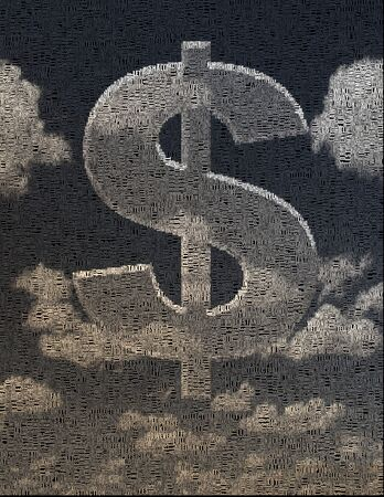 Cloud in shape of dollar sign Archivio Fotografico