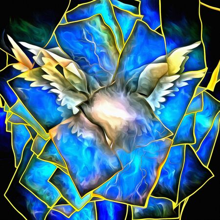 Angelic Wings Abstraction. Digital painting