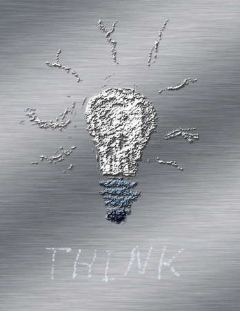 Light bulb and Think word